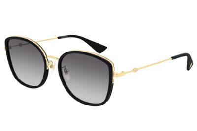 Gucci GG0606SK 001 black gold grey 56 Donna