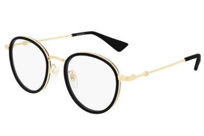 Gucci GG0608OK 001 black gold transparen 49 Unisex